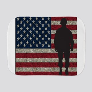Usflag Soldier Burp Cloth