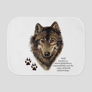 Wolf Totem Animal Guide Watercolor Nature Art Burp