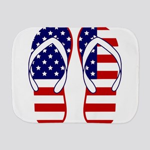 American Flag flip flops Burp Cloth