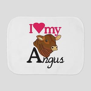 I Love My Angus Burp Cloth