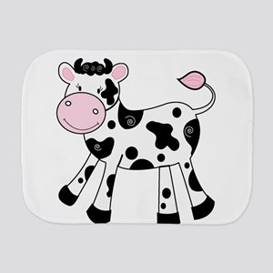 Black and White Dairy Cute Cow Burp Cloth