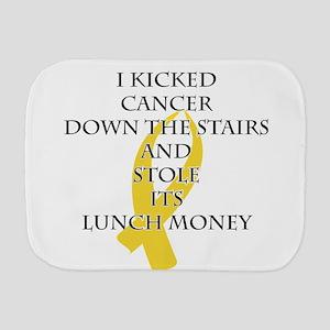 Cancer Bully (Gold Ribbon) Burp Cloth