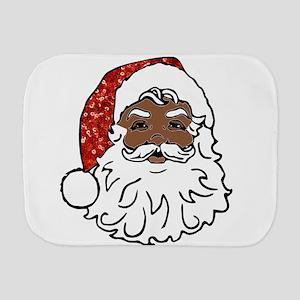black santa claus Burp Cloth
