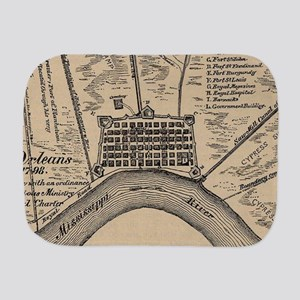 Vintage Map of New Orleans Louisiana (1 Burp Cloth