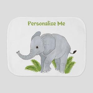 Personalized Elephant Burp Cloth