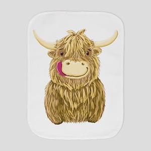 Happy Highland Cow Burp Cloth