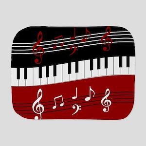 Stylish Piano keys and musical notes Burp Cloth