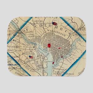 Vintage Map of Washington D.C. Battlefi Burp Cloth