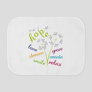 hope love dream smile grow create relax Burp Cloth