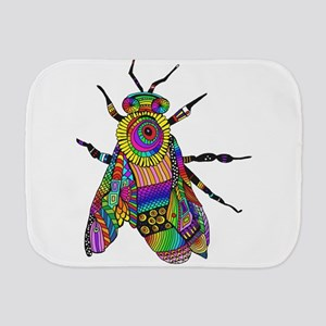 Painted Bee Burp Cloth