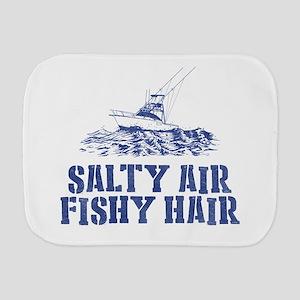 Salty Air Fishy Hair Burp Cloth
