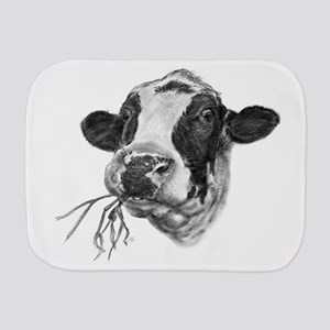 Happy Holstein Friesian Dairy Cow Burp Cloth