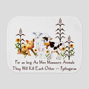 Pythagoras Vegetarian Quote Burp Cloth