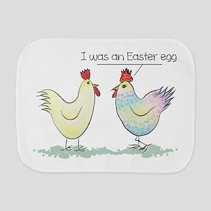 Funny Easter Egg Chicken Burp Cloth