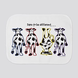 Dare to be Different Cows Burp Cloth