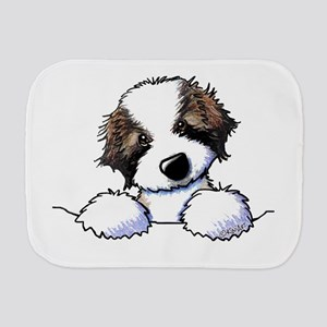 St. Bernard Puppy Pocket Burp Cloth