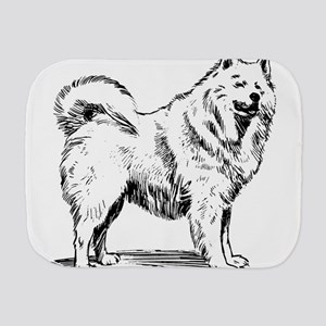 Samoyed dog Burp Cloth
