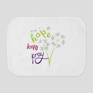 Hope Love pray Burp Cloth