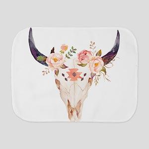Bull Head Flowers Burp Cloth