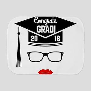 congrats grad 2018 girl Burp Cloth