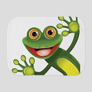 Happy Green Frog Burp Cloth