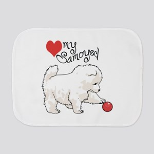 LOVE MY SAMOYED Burp Cloth