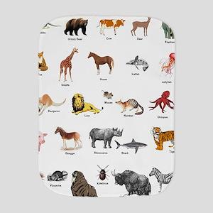 Animal pictures alphabet Burp Cloth