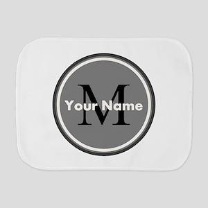 Custom Initial And Name Burp Cloth
