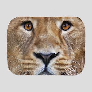 Realistic Lion Painting Burp Cloth