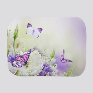 Flowers and Butterflies Burp Cloth