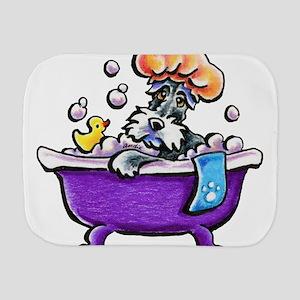 Schnauzer Bath Burp Cloth