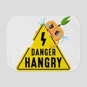 Emoji Peach Hangry Burp Cloth