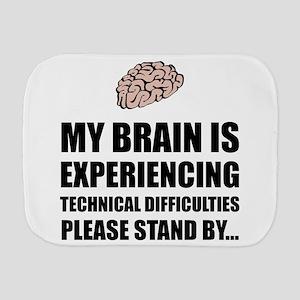 Brain Technical Difficulties Burp Cloth