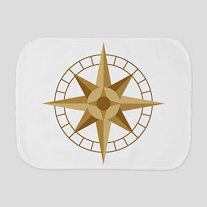 Compass Burp Cloth