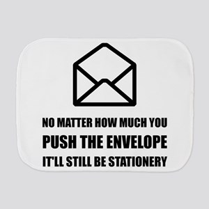 Envelope Stationery Burp Cloth