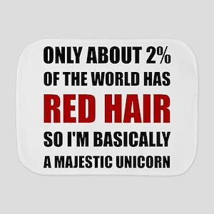 Red Hair Majestic Unicorn Burp Cloth