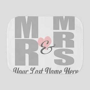 Mr and Mrs Love Burp Cloth