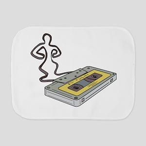 Compact Cassette Tape Man Dancing Mono Line Burp C