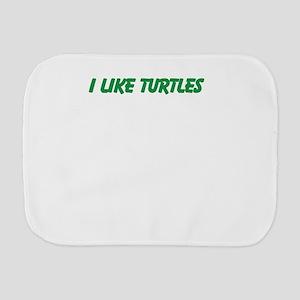 I Like Turtles Burp Cloth