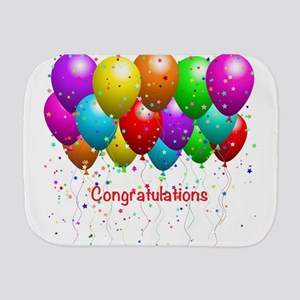 Congratulations Balloons Burp Cloth