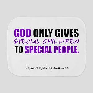 God Only Gives (Epilepsy Awareness) Burp Cloth