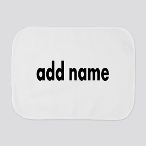 Add Text Font Modern Burp Cloth