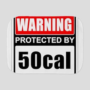 Warning 50cal Burp Cloth