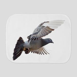 pigeon fly to love joy peace Burp Cloth