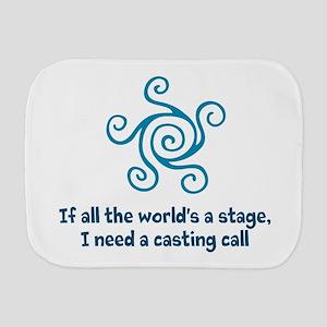 Casting Call Burp Cloth
