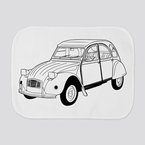 2cv black car Burp Cloth