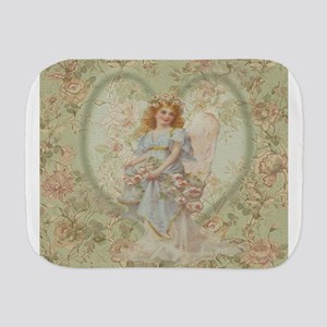 Angel Carrying Roses Burp Cloth