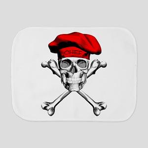 Red Culinary Chef Skull Burp Cloth