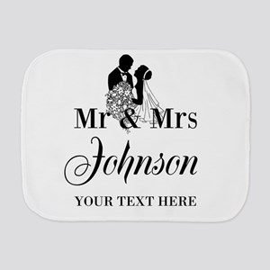 Personalized Mr and Mrs Burp Cloth
