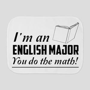 English major you do the math Burp Cloth